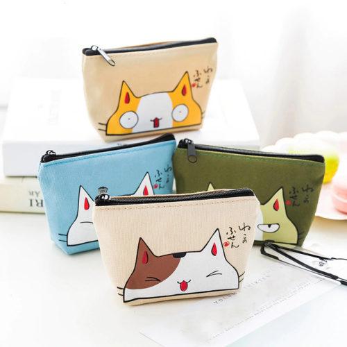 Portemonnee met katten print